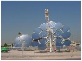 Figure 4 25 kW dish Stirling system.