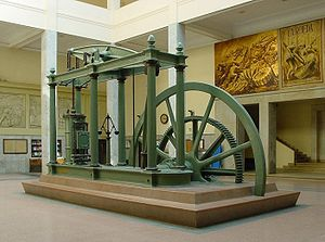 A Watt steam engine, the steam engine that propelled the Industrial Revolution in Britain and the world