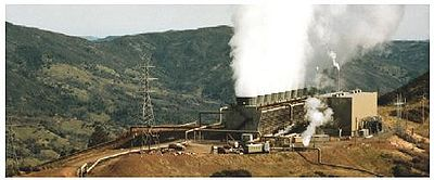 Figure 1 Dry steam plants at the Geysers Source: National Renewable Laboratory.