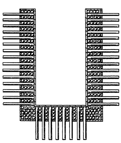 Micro heat pipe exchanger (Faghri, 1991).